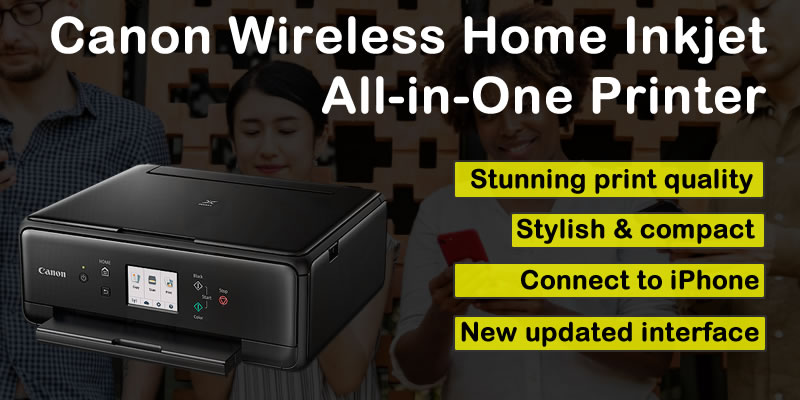 Canon Compact Wireless Home Inkjet All-in-One Printer